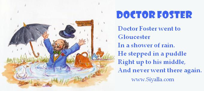 Doctor Foster - Nursery Rhymes ~ Kids Poems - Poems for ...