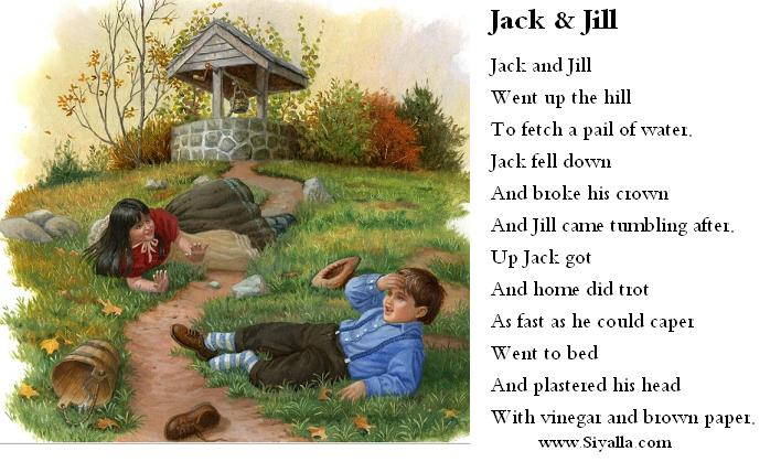 Jack And Jill Nursery Rhymes Kids Poems For Best Collection From Siyalla