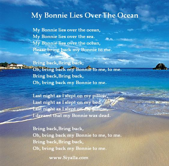 My Bonnie Lies Over The Ocean Nursery Rhymes