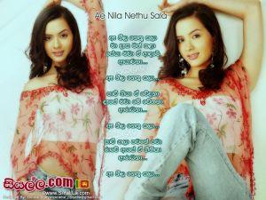 Ae Nila Nethu Sala Ma Dasa Math Kala Sinhala Lyric