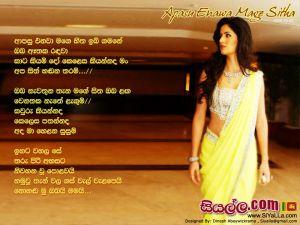 Apasu Enawa Mage Hita Ibi Gamane Sinhala Lyric