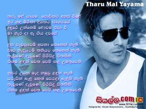 Tharu Mal Yayama Podikara Ahas Vile Sinhala Lyric