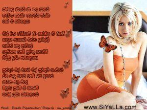 Samanala Reenai Ree Sanda Panai Sinhala Lyric