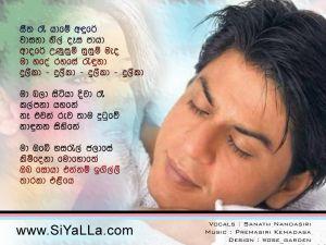 Sitha Re Yame Andure Wasana Nil Desa Sinhala Lyric