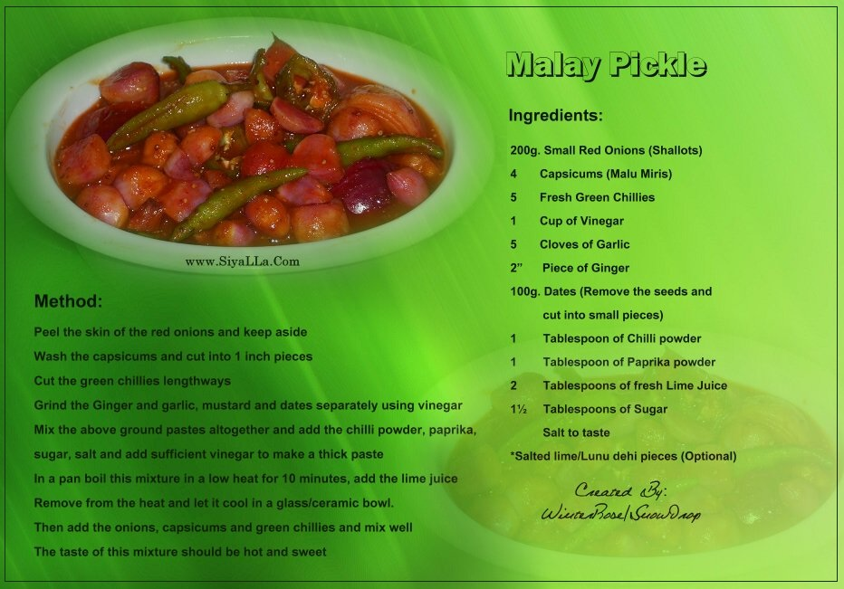 Pickle recipe malay pickle recipe forumfinder Image collections